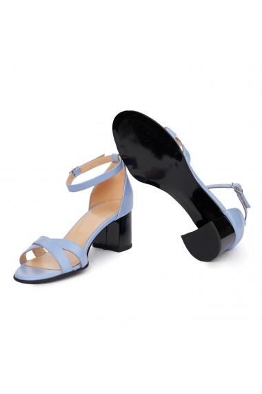 Sandale dama din piele naturala bleu 5417