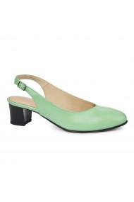 Sandale elegante din piele naturala verde 5421