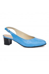Sandale elegante din piele naturala albastra 5423