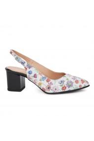 Sandale elegante din piele naturala model floral 5424