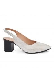 Sandale elegante din piele naturala gri 5426