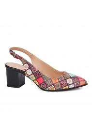 Sandale elegante din piele naturala model geometric 5427
