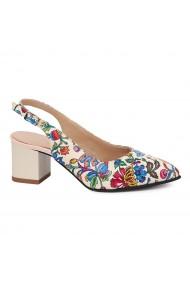 Sandale elegante din piele naturala model floral 5428