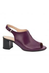 Sandale elegante din piele naturala mov 5429