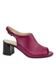 Sandale elegante din piele naturala mov-siclam 5430
