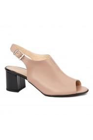 Sandale elegante din piele naturala nude 5431
