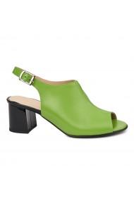 Sandale elegante din piele naturala verde 5433