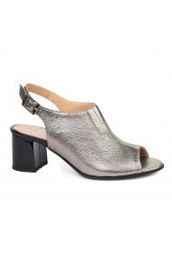 Sandale elegante din piele naturala argintie 5434