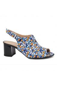 Sandale dama din piele naturala model geometric 5435