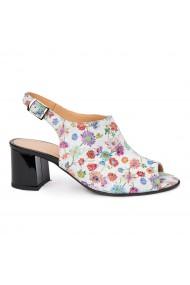 Sandale dama din piele naturala model floral 5437