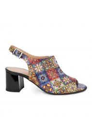 Sandale dama din piele naturala model geometric 5438