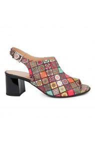Sandale dama din piele naturala model geometric 5439
