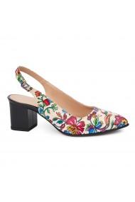 Sandale elegante din piele naturala model floral 5440