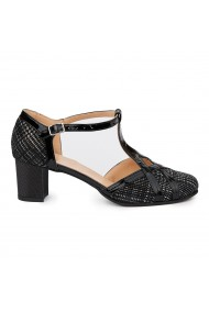 Sandale Elegante Din Piele Naturala Neagra 5442