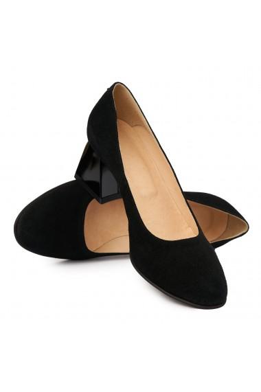 Pantofi dama din piele naturala velur 4901