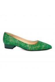 Pantofi dama din piele naturala verde 4913