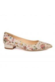 Pantofi dama din piele naturala verde 4916