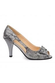 Sandale dama elegante din piele naturala gri 5511