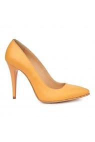 Pantofi eleganti din piele naturala galbena 4922