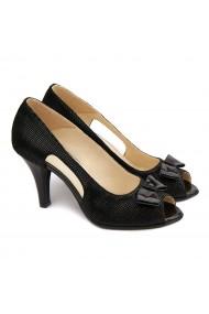 Sandale elegante din piele naturala neagra 5199