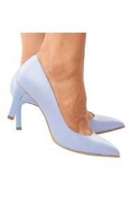 Pantofi dama din piele naturala bleu ciel 4210