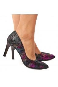 Pantofi dama din piele naturala model colorat 4194