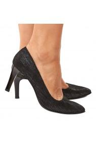 Pantofi dama din piele naturala neagra 4195
