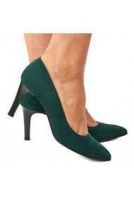 Pantofi dama din piele naturala verde 4203