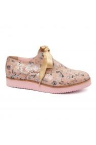 Pantofi casual din piele naturala roz 1770