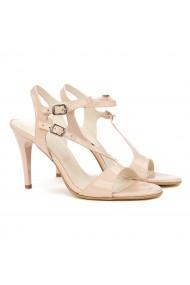 Sandale dama elegante din piele bej 5169
