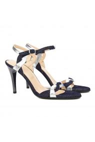 Sandale dama elegante din piele bleumarin 5161