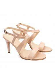 Sandale dama elegante din piele naturala bej 5192