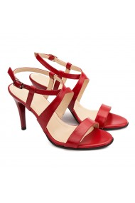 Sandale dama elegante din piele naturala rosie 5181