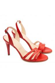 Sandale dama elegante din piele naturala rosie 5185