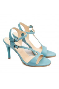 Sandale dama elegante din piele naturala turcoaz 5186