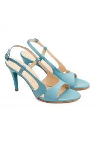 Sandale dama elegante din piele naturala turcoaz 5190