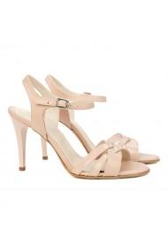 Sandale dama elegante din piele nude 5165