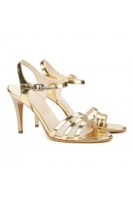Sandale elegante din piele naturala aurie 5171