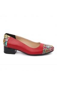 Pantofi dama piele naturala cu toc mic 1889