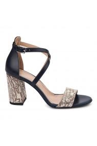 Sandale elegante din piele naturala model mozaic 5455