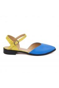 Sandale elegante din piele naturala cu toc mic 5476