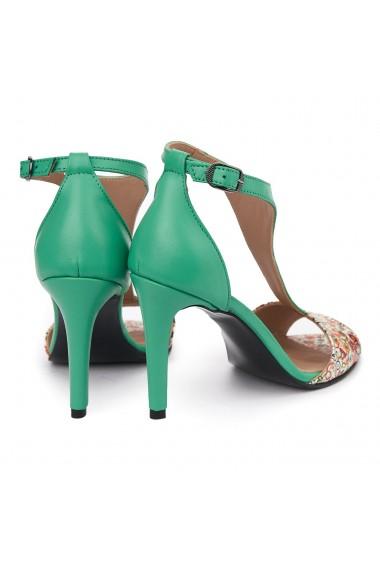 Sandale elegante din piele naturala cu toc subtire 5481