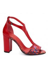 Sandale elegante din piele naturala cu toc subtire 5482