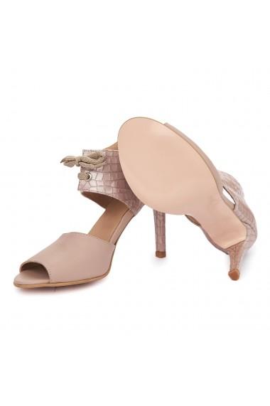 Sandale elegante din piele naturala cu toc subtire 5483
