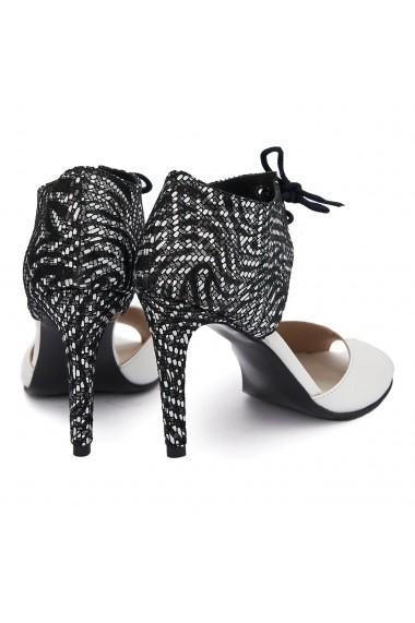 Sandale elegante din piele naturala cu toc subtire 5484