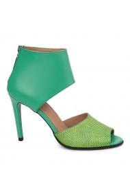 Sandale elegante din piele naturala cu toc subtire 5485