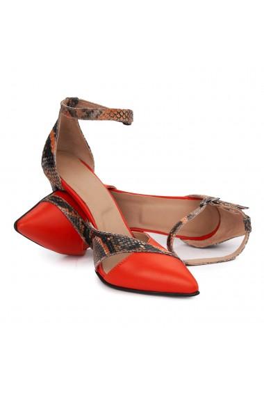 Sandale elegante din piele naturala cu toc subtire 5486