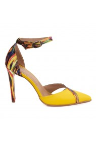 Sandale elegante din piele naturala cu toc subtire 5487