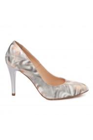 Pantofi dama din piele naturala cu toc subtire 4933