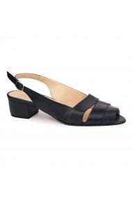 Sandale elegante din piele naturala cu toc mic 5524